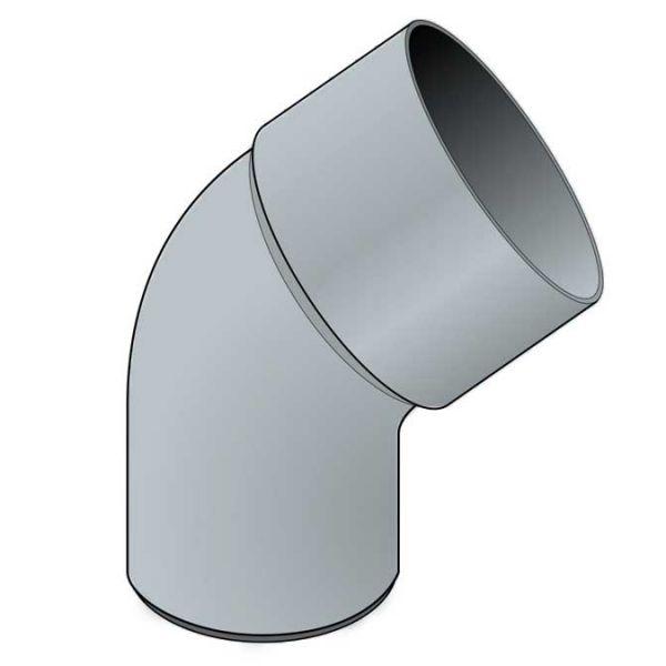 Visuel Coude 45° diam. 80 mm Zinc