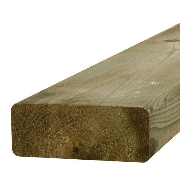 Visuel Bois de construction raboté Pin Rouge du Nord CL4 vert arrondis 45 x 95 mm 5.1 ml