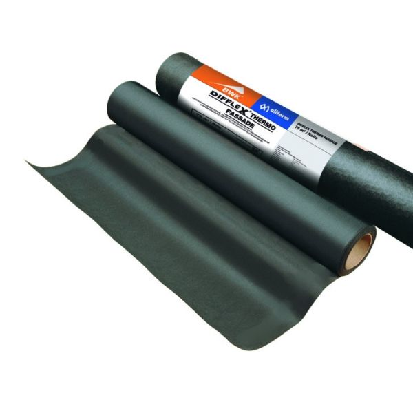 Visuel Écran pare-pluie 120 g/m² pour bardage ajouré au delà de 3 cm- Noir
