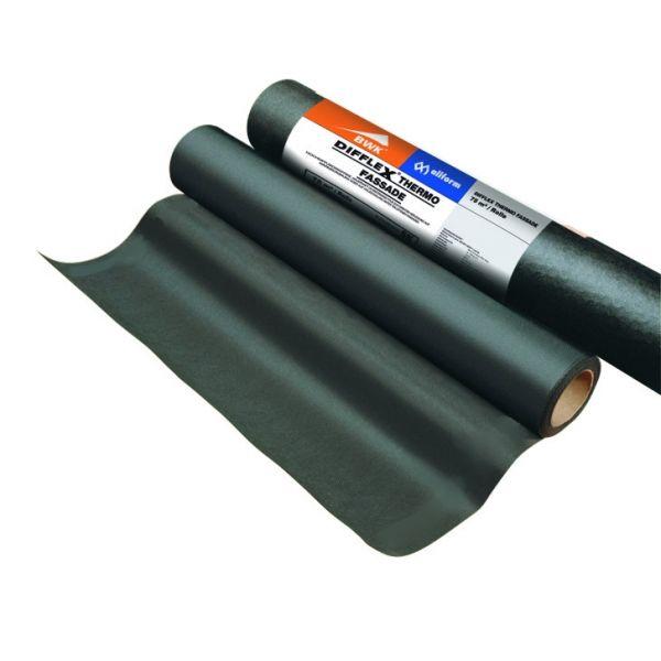 Visuel Écran pare-pluie 120 g/m² pour bardage ajouré jusqu'à 3 cm - Noir