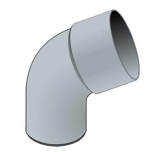 Visuel Coude 67.30° diam. 80 mm Zinc
