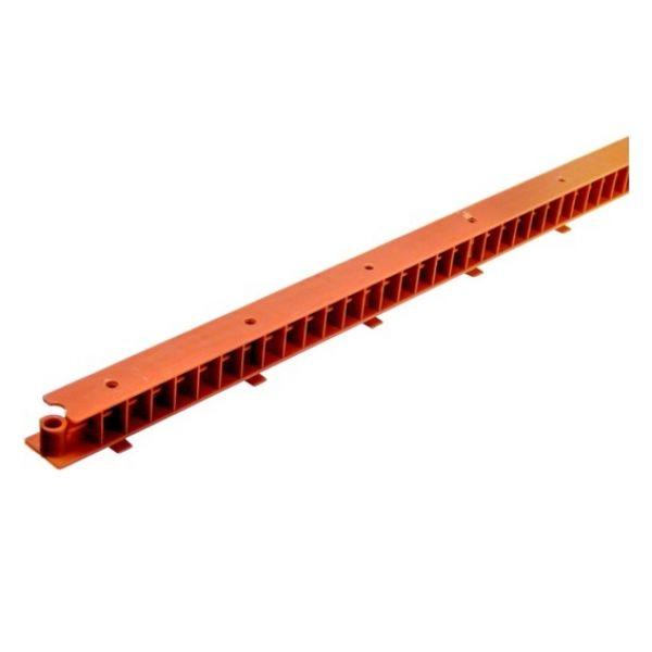 Visuel Latte de ventilation avec peigne rouge brique