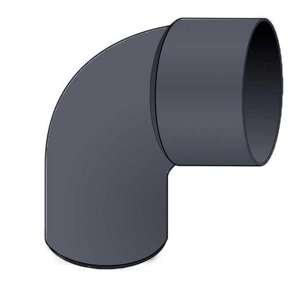 Visuel Coude PVC 87.30° diam. 80 mm Ardoise