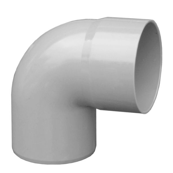 Visuel Coude PVC 87.30° diam. 80 mm Gris