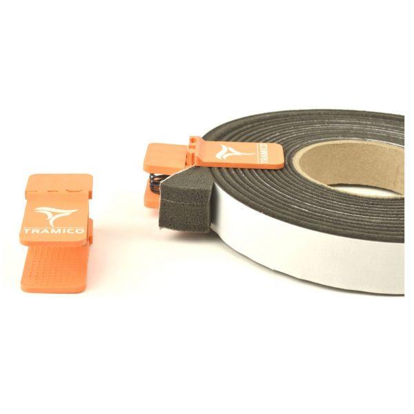Visuel Pince Compriband orange pour conservation des rouleaux après ouverture