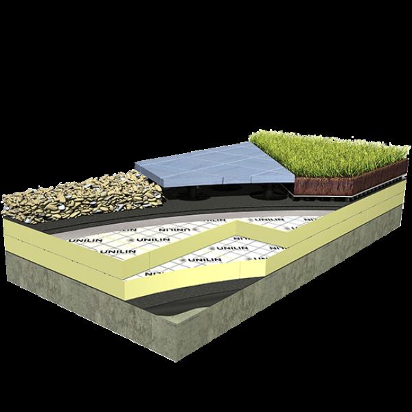 Visuel Plaque isolante en mousse PIR 600 x 1200 x 120 sous protection lourde