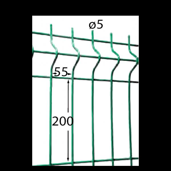 Visuel Panneau Hercules H. 1.23 x L. 2.5 m Vert 6005