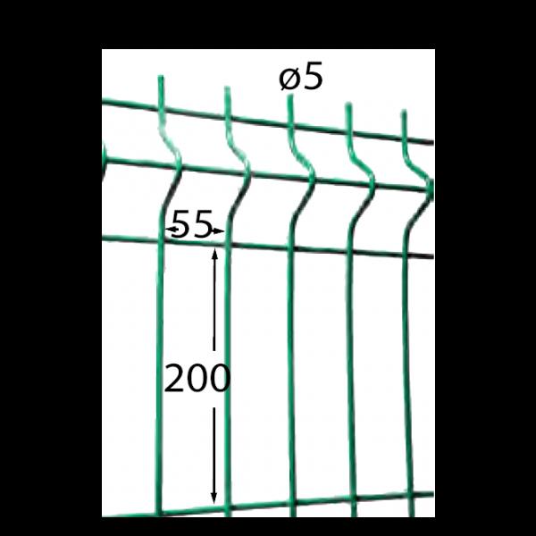 Visuel Panneau Hercules H. 1.93 x L. 2.5 m Vert 6005
