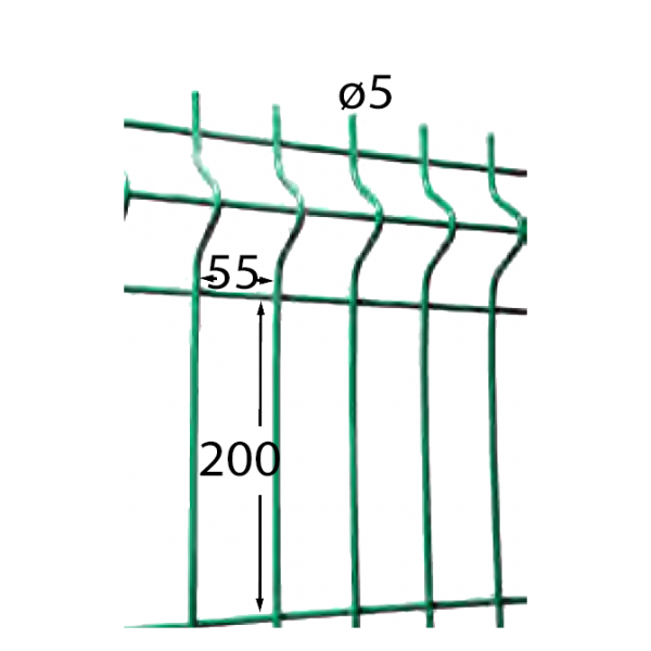 Visuel Panneau Hercules H. 0.63 x L. 2.5 m Vert 6005