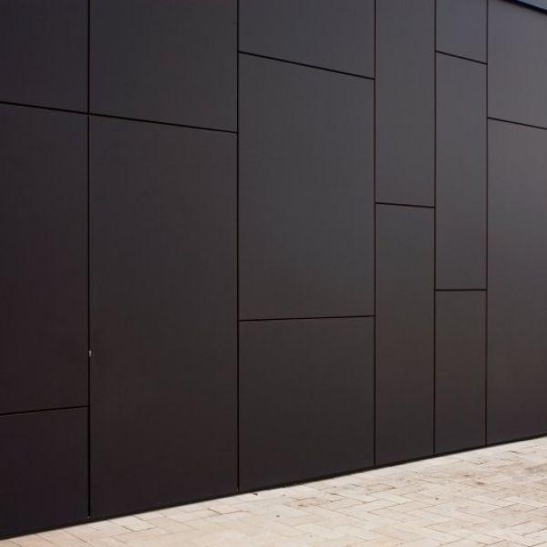 Visuel Panneau MEG HPL extérieur 4200 x 1300 x 8 mm 2 faces décor Finition SEI 474 Grigio Lupo