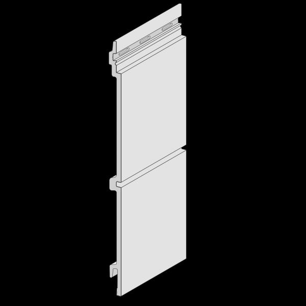 Visuel Bardage Kerrafront® Modern Wood Connex Blanc 2.95 ml