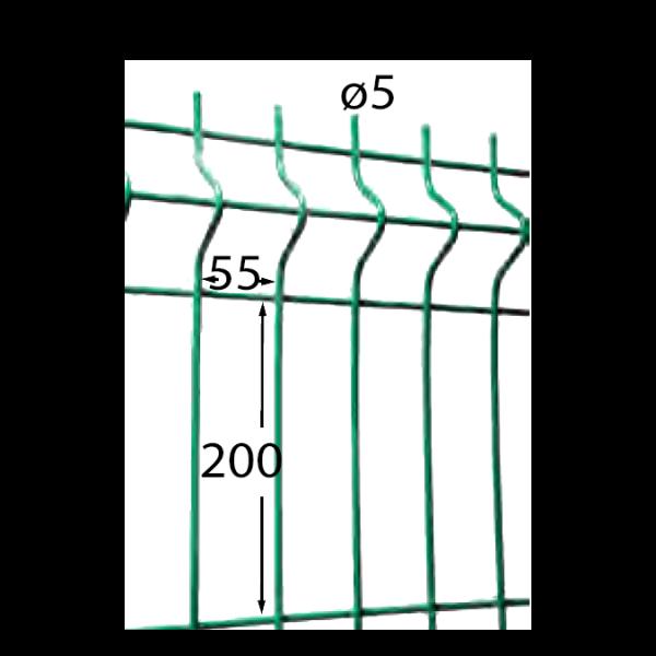 Visuel Panneau Hercules H. 1.53 x L. 2.5 m Gris 7016