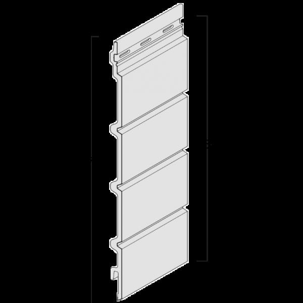 Visuel Bardage cellulaire Kerrafront effet bois lame linéal 332 x 18 mm chêne cérusé