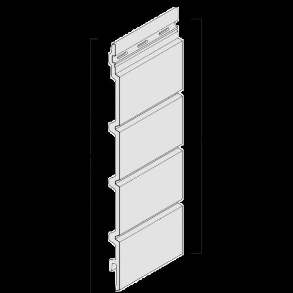 Visuel Bardage cellulaire Kerrafront effet bois lame linéal 332 x 18 mm chêne grisé
