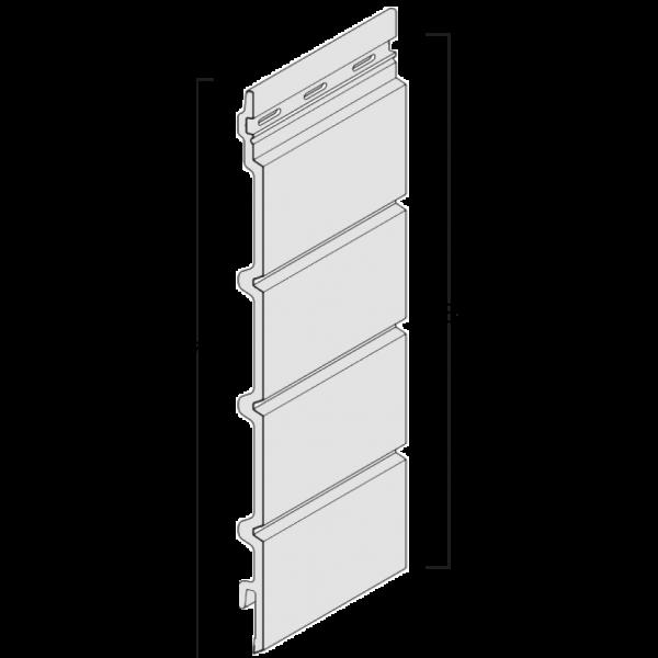 Visuel Bardage cellulaire Kerrafront effet bois lame linéal connex 332 x 18 mm chêne cérusé