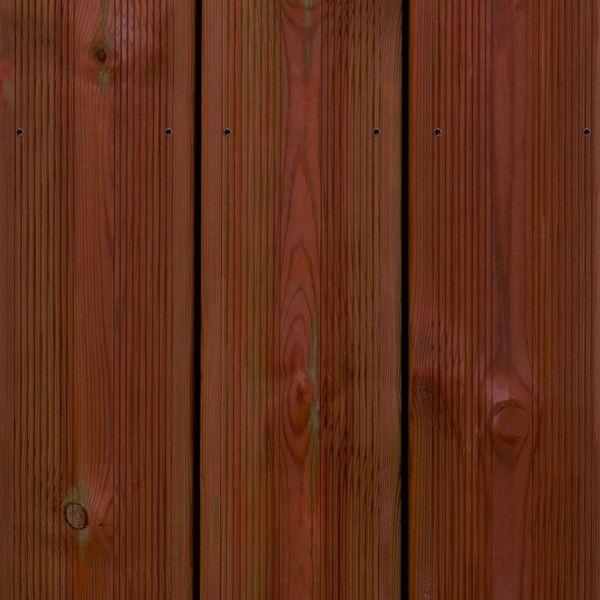 Visuel Lame de Terrasse Pin Sylvestre 27 x 145 mm strié/lisse Bronze 4.5 ml