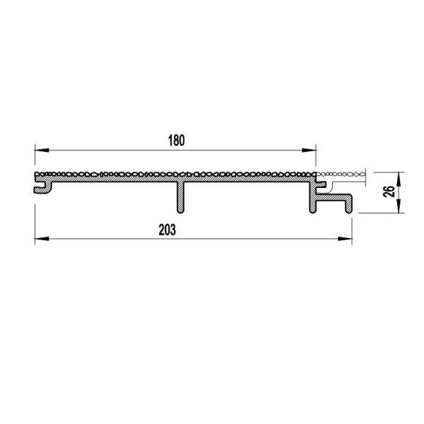 Visuel Bardage PVC Cellulaire Vinytherm® sans chanfrein Aspect Crépi Gotland - 6 x 6 ml