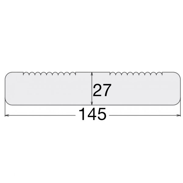 Visuel Lame de Terrasse Pin Sylvestre US 27 x 145 mm strié/lisse Vert 4.5 ml