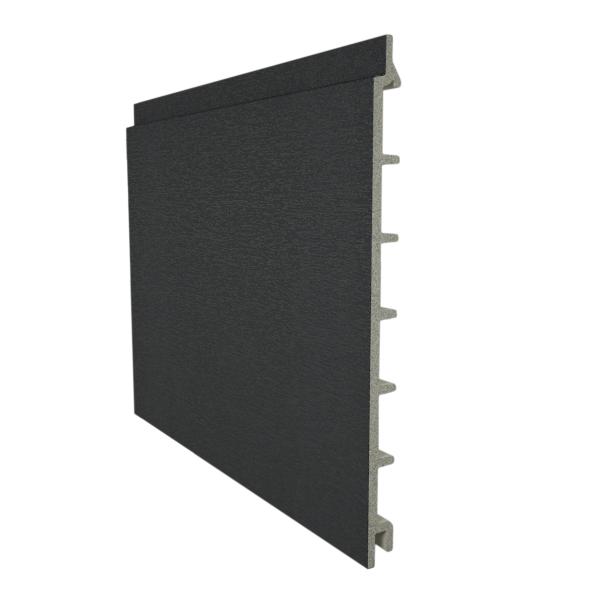Visuel Bardage PVC cellulaire lisse à jonction invisible 200 x 13.5 mm Gris anthracite