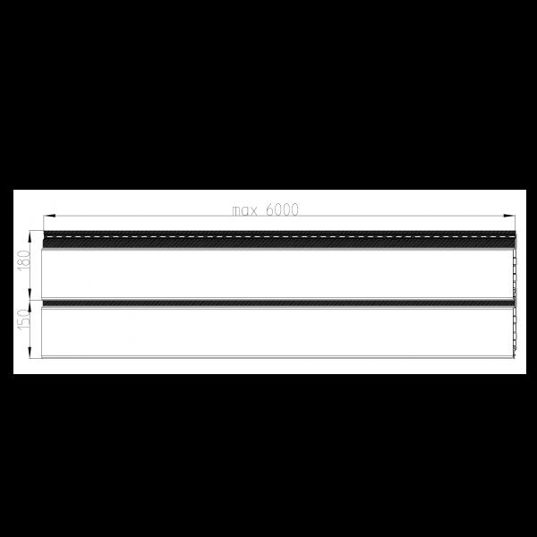 Visuel Bardage alvéolaire faux claire-voie Vinyplus Shadow® Artisan oak - 150 x 18 mm