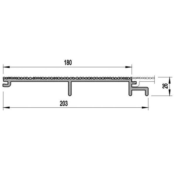 Visuel Bardage PVC Cellulaire Vinytherm® sans chanfrein Aspect Crépi Toscana - 6 x 6 ml