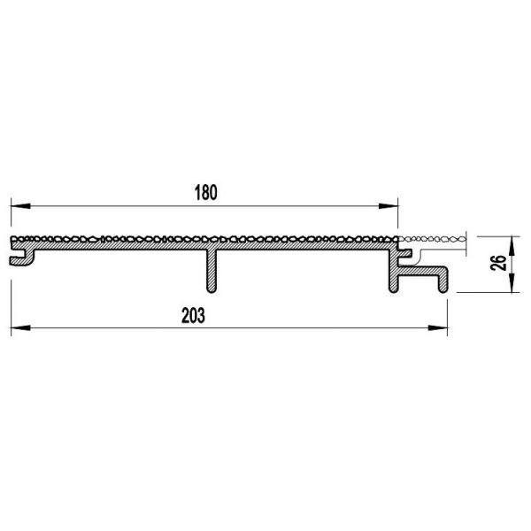 Visuel Bardage PVC Cellulaire Vinytherm® sans chanfrein Aspect Crépi Alpin - 6 x 6 ml
