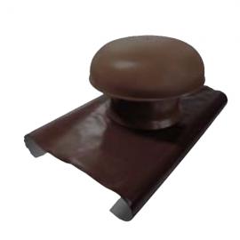 Chapeau de Ventilation avec Bandfe Plomb diam. 125 Marron