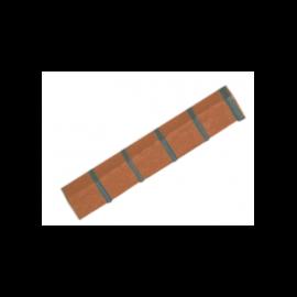Angle pour structure brique NBII Antrhacite flammé