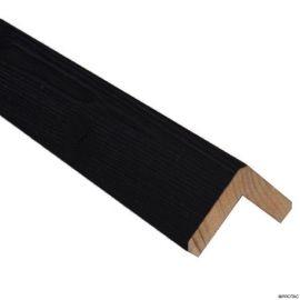 Cornière d'angle Clinexel® 62 x 62 mm Épicéa Intense black