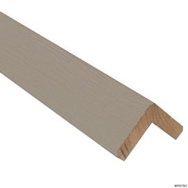 Cornière d'angle Clinexel® 62 x 62 mm Épicéa Platine