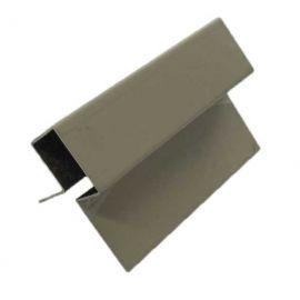 Profil d'angle ext en Alu Laqué Sable clair