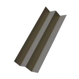 Profil d'angle int en Alu Laqué Gris métal