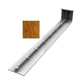 Jonction 300 mm pour Planche de Rive en L Arrondie ép. 9 mm Chêne doré
