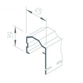 Couronnement Vinytherm® 45 x 50 mm Blanc