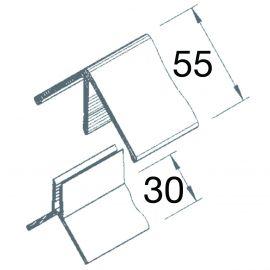 Angle Sortant 2 parties Vinyplus® Crème