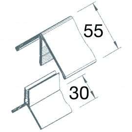 Angle Sortant 2 parties Vinyplus® Vert sapin