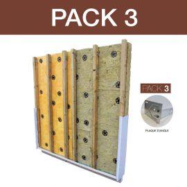 Packiso Fixation des Angles Support Parpaing ou Brique Alvéolaire