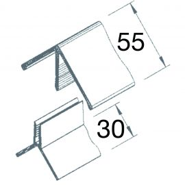 Angle Sortant 2 parties Vinyplus® Gris anthracite