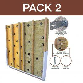 Packiso Fixation Entraxe 400 mm pour support Parpaing ou Brique Alvéolaire