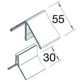 Angle Sortant 2 parties Vinyplus® Gris clair