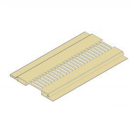 Ventilation Mâle/Femelle 100 x 10 mm Sable