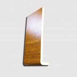 Planche de rive PVC Cellulaire arrondie Forme L H 300 mm Chêne doré