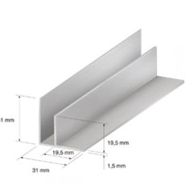 Angle intérieur 31 x 31 mm Champagne 2.7ml
