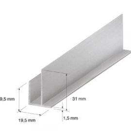 Angle extérieur 19.5 x 19.5 mm Silver 2.7ml