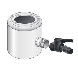Récupérateur Eau Pluviale pour Tube 80 ou 100 mm Gris