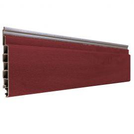 Bardage PVC Alvéolaire Vinyplus® Rond Aspect Bois Rouge - 4 x 6 ml