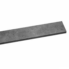 Tablette PVC Alvéolaire Gamme Excellence Mate 200 mm Gris ardoise marbre