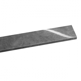 Tablette PVC Alvéolaire Gamme Excellence Brillant 200 mm Gris ardoise marbre