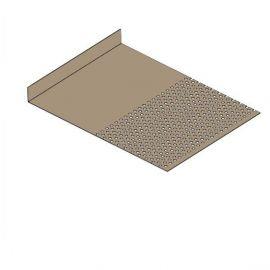 Tôle départ Alu Ventilée Packeasy® prof. 181 mm RAL 1019
