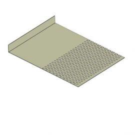 Tôle départ Alu Ventilée Packeasy® prof. 181 mm RAL 7032